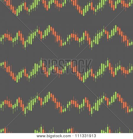 Stock Market Seamless Pattern Background