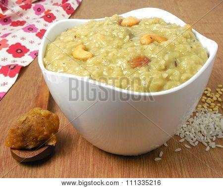 Indian Food Sweet Pongal