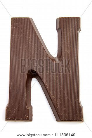 Chocolate Letter N For Sinterklaas