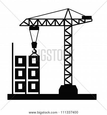 Tower crane vector