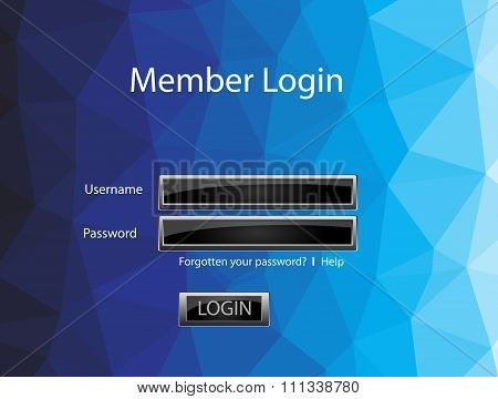 Vector Member Login Template