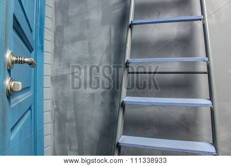 Repair In An Apartment By Using A Stepladder