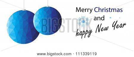 Blue Polygon Christmas Decoration