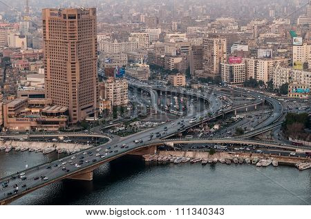 6 October Bridge in Cairo.