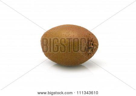 kiwi fruit / kiwifruit with shadow on white background