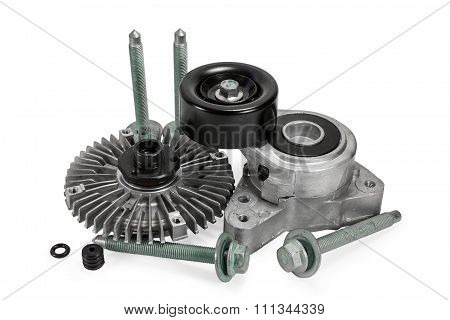 Auto Parts. Viscous Muff. Belt Tensioner. Bolts