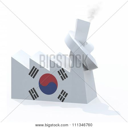 Korean Factory With Chimney Knotted