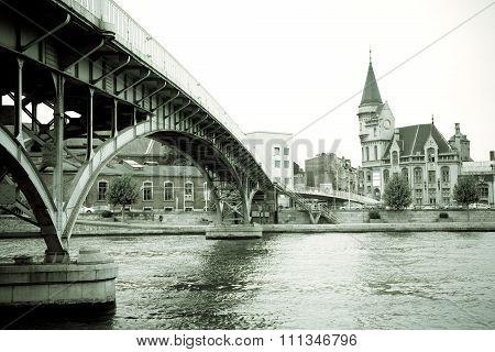 Saucy Footbridge, Liege, Belgium