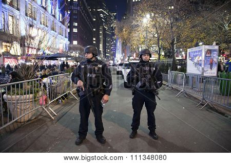 NYPD Police Strategic Response Group In Herald Square Nyc