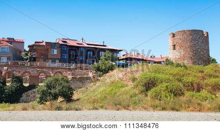 Nesebar Resort Town, Bulgaria. Summer Cityscape