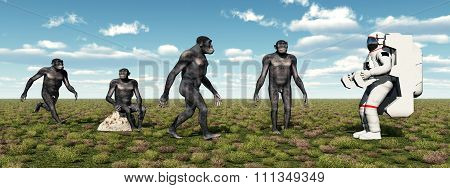 Homo Habilis and Astronaut