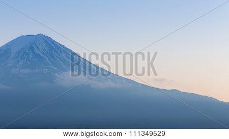 Mt Fuji closed up, Japan