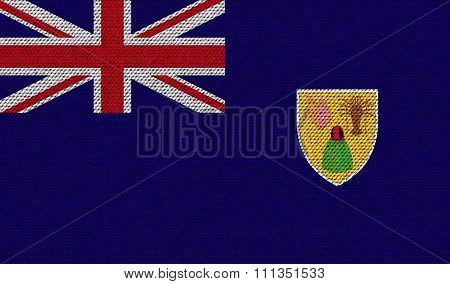 Flags Turks And Caicos On Denim Texture.