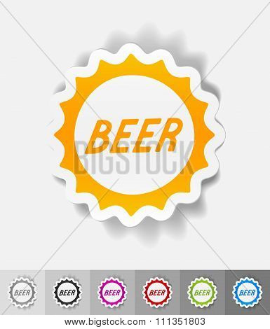 realistic design element. bottle cap