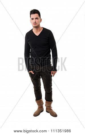 Male Model Wearing A Sweater.