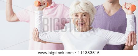 Old Lady Likes Fitness