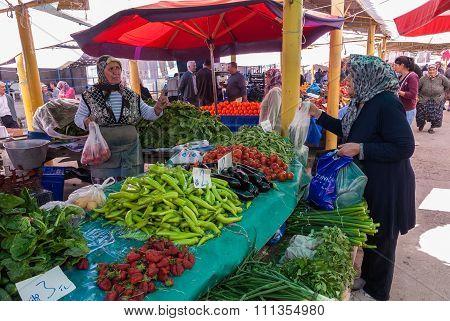 Open market in Turkey
