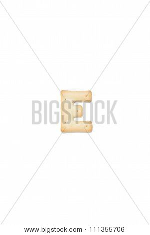 Letter E Made Of Cracker Cookie