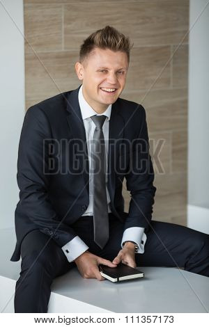 Business man in a suit