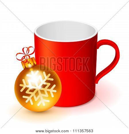 Red Cup and Christmas Ball