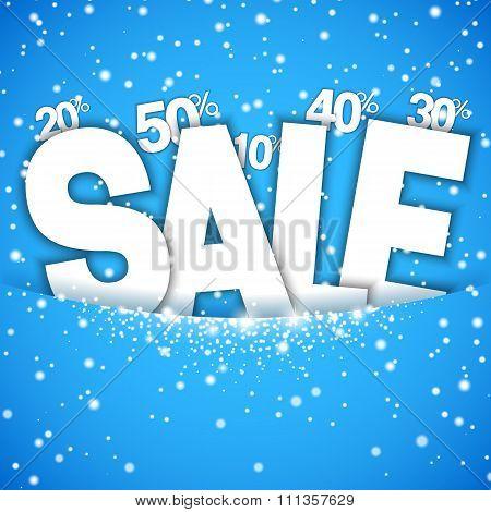 Winter Sale Concept