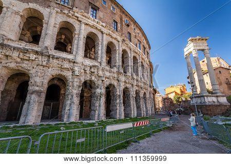 Portico D' Ottavia,Ruin in Rome