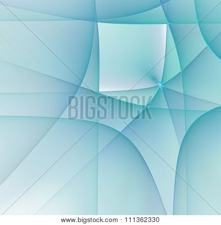 Abstract White Background With Blue Colored Cubism Style Texture, Fractal