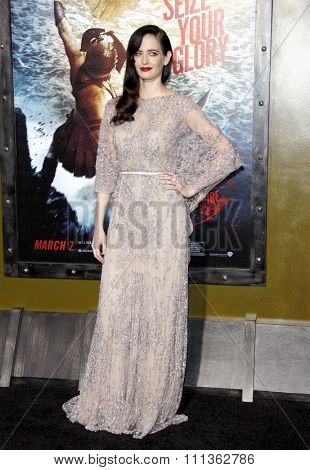 Eva Green at the Los Angeles premiere of