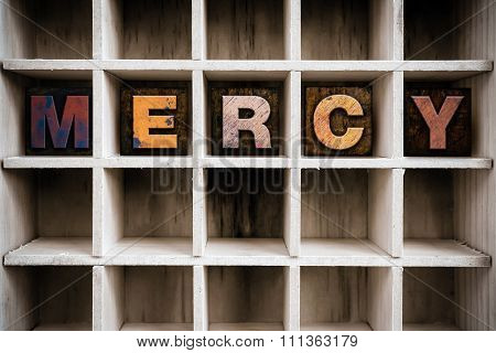 Mercy Concept Wooden Letterpress Type In Drawer