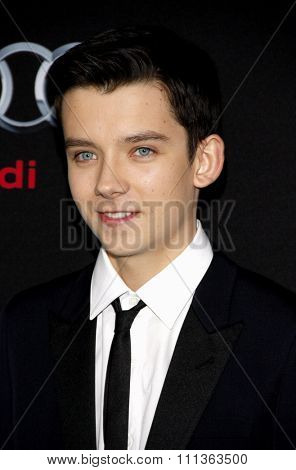 Asa Butterfield at the Los Angeles Premiere of