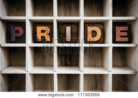 Pride Concept Wooden Letterpress Type In Drawer