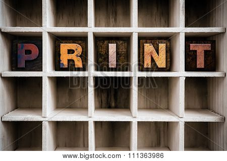 Print Concept Wooden Letterpress Type In Drawer