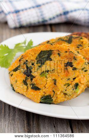 Sweet Potato Kale Quinoa Patties