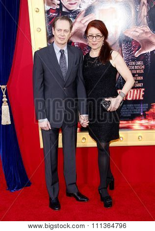 Steve Buscemi and Jo Andres at the Los Angeles Premiere of