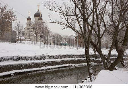 Winter View On Church