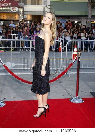 Halston Sage at the Los Angeles premiere of