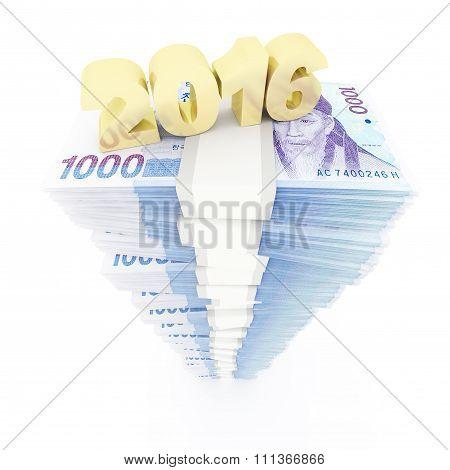 New year 2016 and Korean won stack
