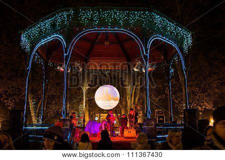 Advent in Zagreb, Croatia, music pavilion in Zrinjevac park