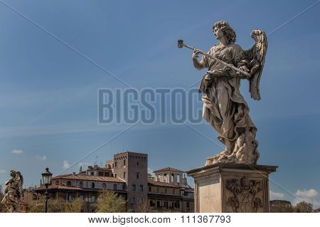 Statue Of An Angel, Rome, Italy