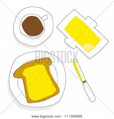Buttered Toast For Breakfast