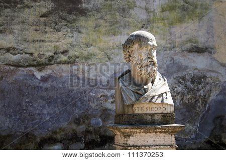 Statue Of Stesicoro, Rome, Italy