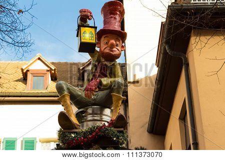 The Gnome-decoration On Strasbourg  Christmas Market.