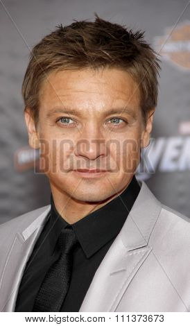 HOLLYWOOD, USA - APRIL 11: Jeremy Renner at the Los Angeles Premiere of