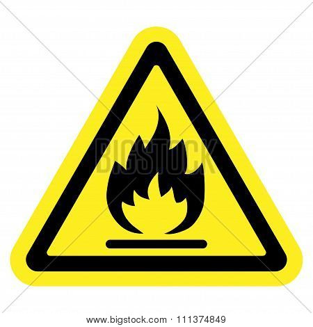 Sign Fire Yellow