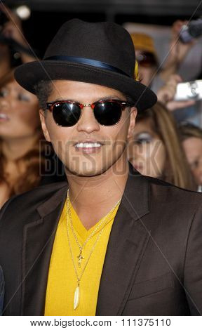 LOS ANGELES, USA - NOVEMBER 14: Bruno Mars at the Los Angeles Premiere of