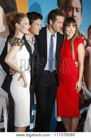 Leslie Mann, Jason Bateman, Ryan Reynolds and Olivia Wilde at the Los Angeles Premiere of