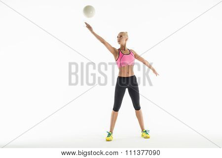 Sport girl with ball