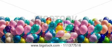 Multi-colored Balloons Isolated On White