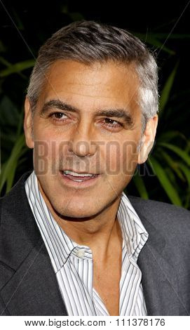 BEVERLY HILLS, USA - NOVEMBER 15: George Clooney at the Los Angeles Premiere of