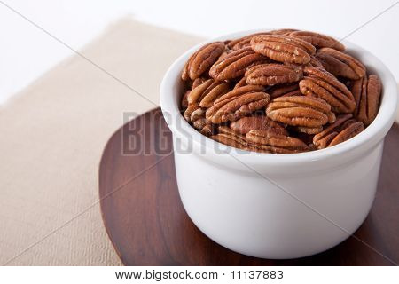 Pecans with room for copy